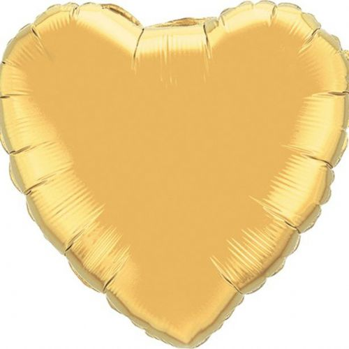 "Metallic Gold Heart Shaped Balloon - 18"" Foil (each)"